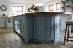 Eastburn Country Furniture made my kitchen. This is the Island in Farrow and Ball Oval Room Blue 1920s Kitchen, Updated Kitchen, Country Kitchen, New Kitchen, Kitchen Decor, Kitchen Ideas, Kitchen Planning, Kitchen Updates, Kitchen Inspiration