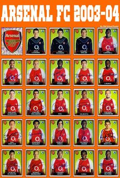 Old School Panini — ARSENAL F.C 2003-04