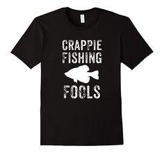 Mens Crappie Fishing Fools Tshirts 2XL Black