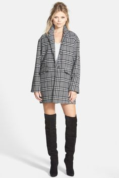 Plaid Houndstooth Jacket by GLAMOROUS on @nordstrom_rack
