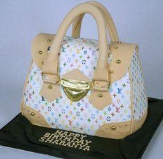 Louis Vuitton purse cake.