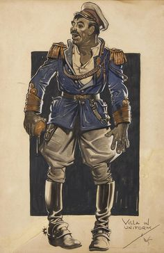 "Wallace Smith, ""Pancho Villa in Uniform,"" Touring Topics illustration, November, 1933."