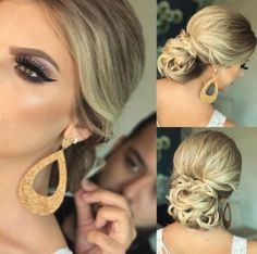 12 PENTEADOS DE FESTA PARA USAR EM 2017 - Madrinhas de casamento Prom Hairstyles For Short Hair, Celebrity Hairstyles, Bride Hairstyles, Modern Updo, Hair Due, How To Make Hair, Bridesmaid Hair, Hair Hacks, Hair Trends