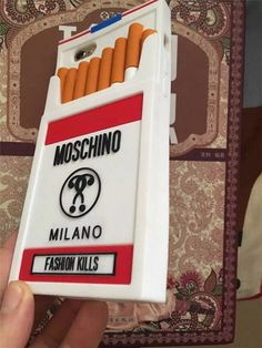 Spezielle und Cool!Moschino Zigaretten Handyhülle für iPhone5/6/6 plus - elespiel.com