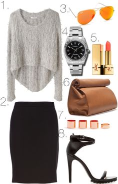 Paper bag office outfit.