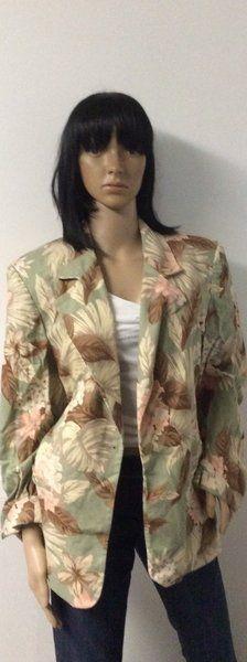 Green/Brown Blazer Size 16W