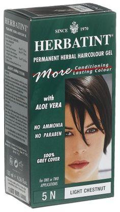 herbatint permanent herbal haircolour gel light chestnut 5n 1 each pack of - Coloration Herbatint