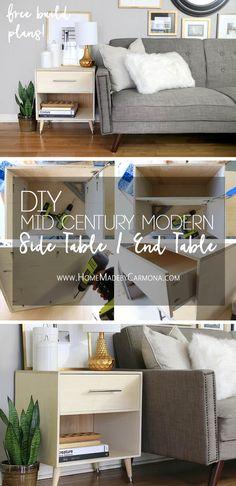 DIY Mid Century Modern Side Table