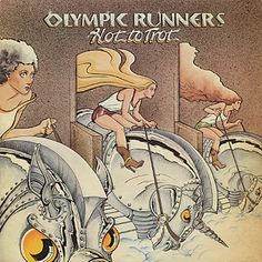 Olympic Runners - Hot To Trot. Illustration by Pam Cooke