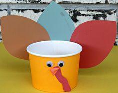 #Thanksgiving Day Craft , #Kids Turkey Treat Cup