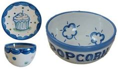 Hadley Pottery Cupcake Plate (and Ice Cream Bowl)