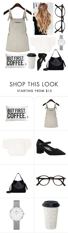 """but first, coffee"" by margaridaasg ❤ liked on Polyvore featuring Oh My Love and Daniel Wellington"