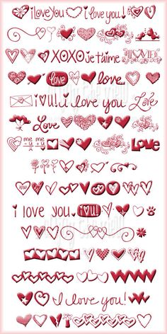 Free Valentine's Day Font Fun  ~~  Valentine's Day characters