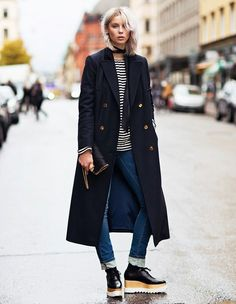 striped top stella mccartney platform oxfords street style