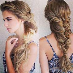 Boho long braid