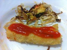 Bacallà amb tomàquet i verduretes cruixents