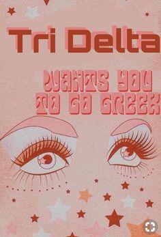 College Sorority, Sorority Life, Pi Beta Phi, Tri Delta, Greek Life, Good Vibes, Backgrounds, Collage, Art