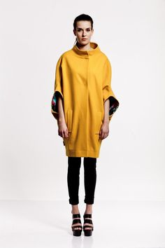 Short Coats – Coat HARRY Yellow – a unique product by never_ever on DaWanda