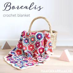 https://haakmaarraak.nl/free-crochet-pattern-borealis-blanket/; The free crochet pattern for the Borealis blanket is available on http://haakmaarraak.nl