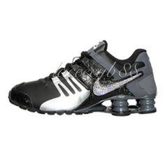 the best attitude 7dce4 ed542 Bling Swarovski Nike Shox Current-Black Silver Grey by laceeeyb88 on Etsy  Nike