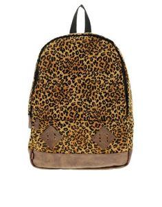 ASOS – Rucksack mit Leopardenmuster und Kunstleder