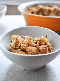 Gluten Free apple crisp - serves 4 4 honeycrisp apples, chopped into cubes 2 tablespoons brown sugar 1/2 tablespoon coconut flour ¼ teaspoon cinnamon ¼ teaspoon salt 2/3 cup b...