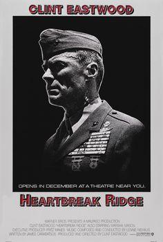 """Heartbreak Ridge"" (1986). Country: United States. Director: Clint Eastwood. Cast: Clint Eastwood, Marsha Mason, Everett McGill, Bo Svenson"