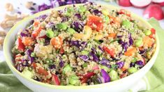 This simple quinoa salad is packed with flavor, texture and beautiful colors (everything I want when I am eating a salad). It makes a delightful meal on it's own and is also a great side dish to some roasted salmon or ginger soy chicken. Want to learn more about quinoa? Watch my Quinoa 101 Looking …