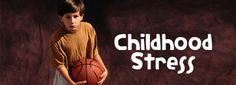 Recognize stress in your child's life & learn how to deal with it. #ChildhoodStress #CarefreeKids