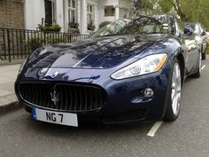 Really love this deep blue Maserati!