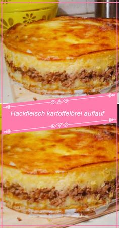 Ingredients: 500 g minced meat 2 bags / n potato puree powder 1 large onion (not . - Ingredients: 500 g minced meat 2 bags / n mashed potatoes 1 large onion (s) 150 g cheese (e. Healthy Salad Recipes, Healthy Chicken Recipes, Baby Food Recipes, Beef Recipes, Dessert Recipes, Healthy Protein Breakfast, Toast Pizza, Potato Puree, Mince Meat
