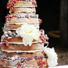 Csupasz menyasszonyi torta , Naked wedding cake