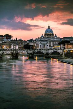 Ponte Sant'Angelo and St. Peter's Basilica, Rome