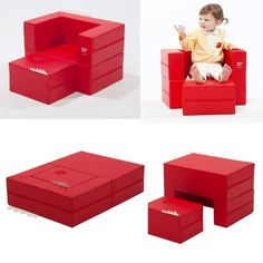 Kids Folding Block Sofa Mini Little Couch Daughter Birthday Gift Cute Furniture  #DESIGNSKIN