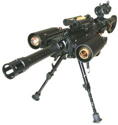 Image detail for -This paintball gun launches grenades. It has a bipod mount and a laser ...