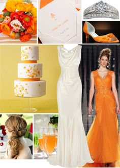 """""""Orange Posy"""" by forestcat-lsc ❤ liked on Polyvore"""