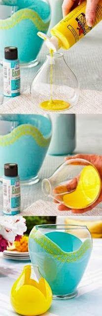 How to Make #Colourfull Glass Vases