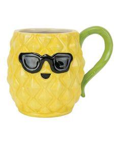 Loving this Pineapple Smiles Mug on #zulily! #zulilyfinds