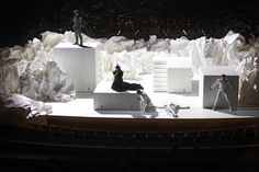 white set - would look great with lights - Don Giovanni set design by Frank Gehry
