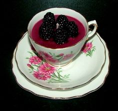 Blackberry Jam Tea Cup Candle