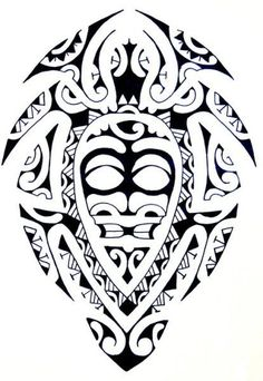 Samoan Art Designs   Maori Turtle with a Tiki God as Carapace filled with pure Polynesian ... #polynesiantattoosdesigns