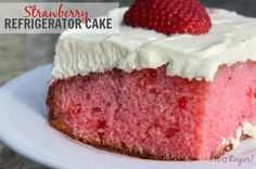 This Strawberry Refrigerator Cake recipe is light, refreshing and easy to make. This cake gets devoured every time I make it.