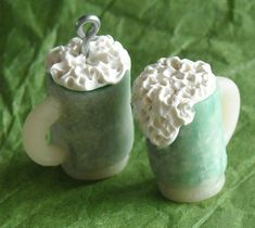 St Patrick's Day Green Beer mug miniatures by CobaltMoonJewelry, $6.00