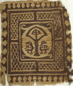 Coptic. Textile, 6th century C.E. Flax, wool, 7 x 8 in. (17.8 x 20.3 cm). Brooklyn Museum, Charles Edwin Wilbour Fund, 38.657. Creative Commons-BY