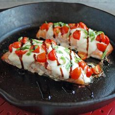 Salmon Caprese with Balsamic Glaze is the best salmon! It's so easy, yet company…