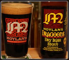 Dragoons Dry Irish Stout  Dry, roasty and incredibly rich in flavor, Dragoons Dry Irish Stout is made with a unique blend of imported hops and malted barley from the United Kingdom. This award winning stout is brewed in the Irish tradition to commemorate General Stephen Moylan, Irish-born commander of the 4th Continental Dragoons during the American Revolutionary War.