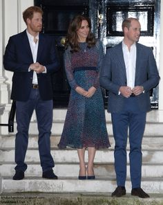 Duchess Kate: William, Kate, Harry and George Welcome the Obamas to Kensington Palace - April 22, 2016