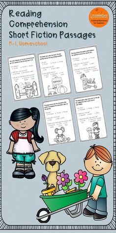These Short Fiction reading comprehension passages for grades K-1 can be used in your class to help your students with reading comprehension skills as well as with test taking skills.  Please take a preview peek!   Included: 5 engaging passages with 3 multiple choice questions.  The Cat The Dog The Mouse The Snail The Boy