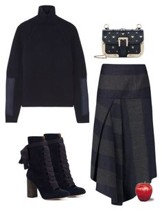 """""""Untitled #2554"""" by applelula on Polyvore featuring TIBI, Victoria Beckham, Chloé and RED Valentino"""