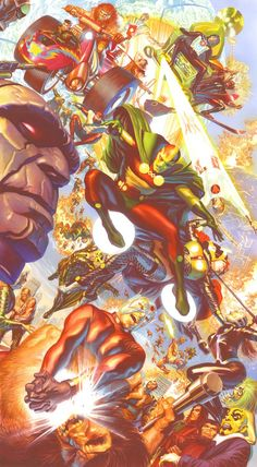 Marvel Masterworks and more! — New Gods art by Alex Ross. Alex Ross, Comic Book Artists, Comic Artist, Comic Books Art, Dc Comics Characters, Dc Comics Art, Marvel Comics, Comic Villains, Ms Marvel